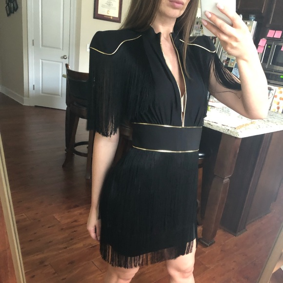 Dresses & Skirts - Elisabetta Franchi Dress. Black and gold size 38